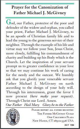 prayerforthecanonizationoffathermichaeljmcgivney